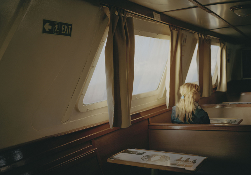 Tourist ferry from Greece to Turkey across the Aegean sea, cost 8 euros. From the series (Greece) The Last Resort
