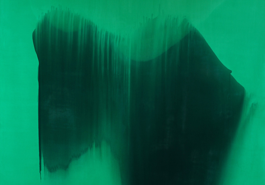 Charlie Sheard, detail from Aition 3 [Raphael] 2012-13 acrylic and oil on polyester 198 x 214cm