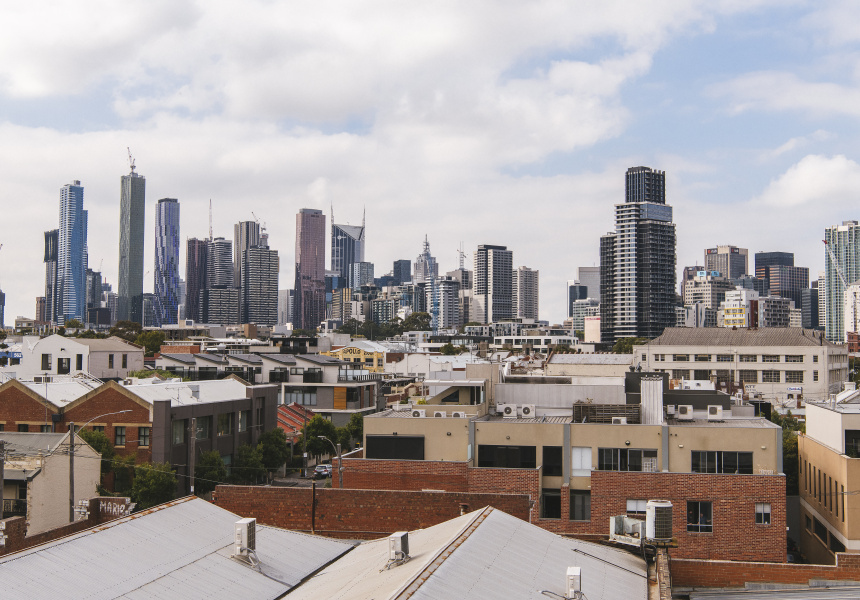The CBD as seen from North Melbourne