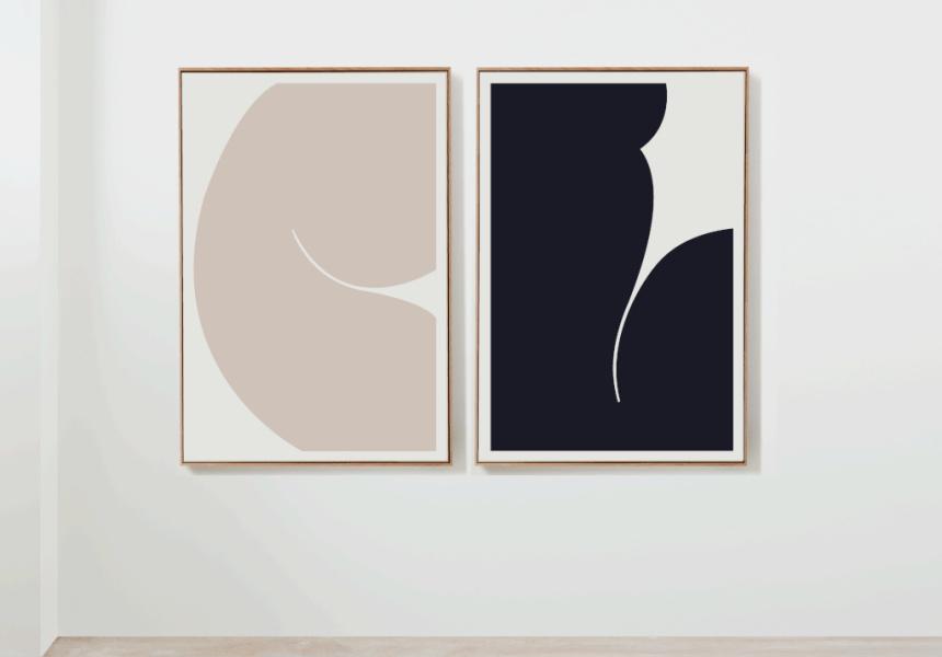 Body Language III and IV by Caroline Walls