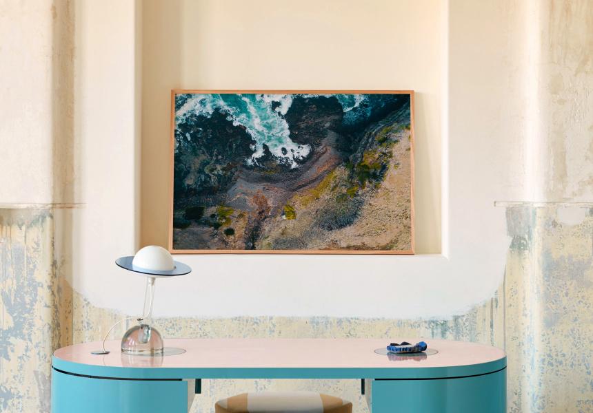 Untitled (Flinders Cliffside), 2017, Jake Roden, seen here at Lucy Folk Salon.