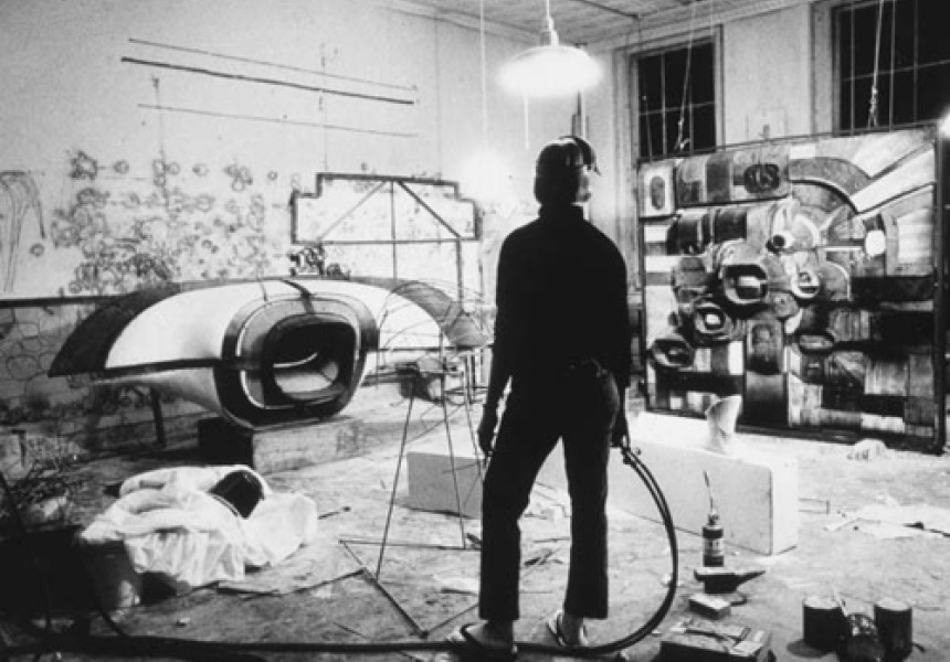 Lee Bontecou photographed by Ugo Mulas in 1963