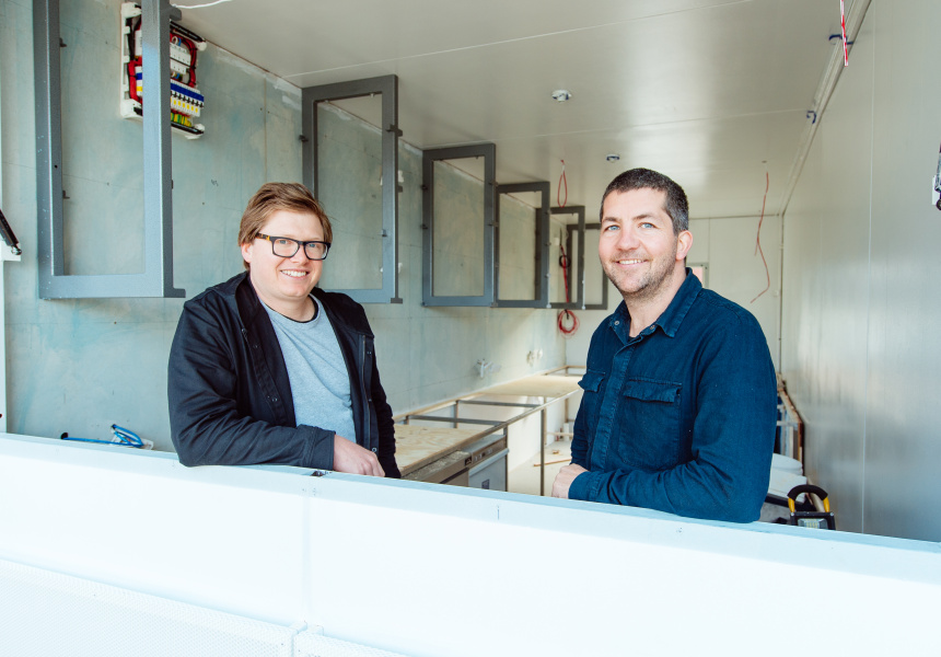 Mary Street Bakery owners Michael Forde and Paul Aron.