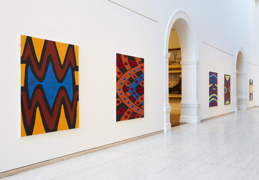Gordon Bennett, artworks from 'Home Decor (after M. Preston)'