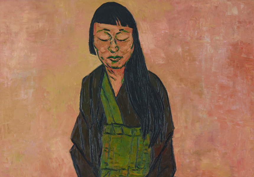 2019 Archibald Prize winner Tony Costa's Lindy Lee oil on canvas, 182.5 x 152 cm © the artist
