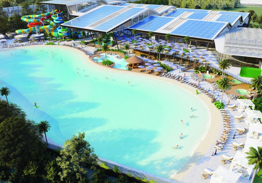 A render of Surf n Play Aqua Park
