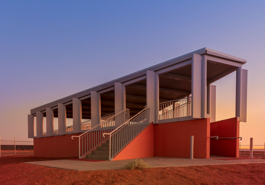 Solar Plant Viewing Platform, Broken Hill, 2018 from the series Silver City by James Farley