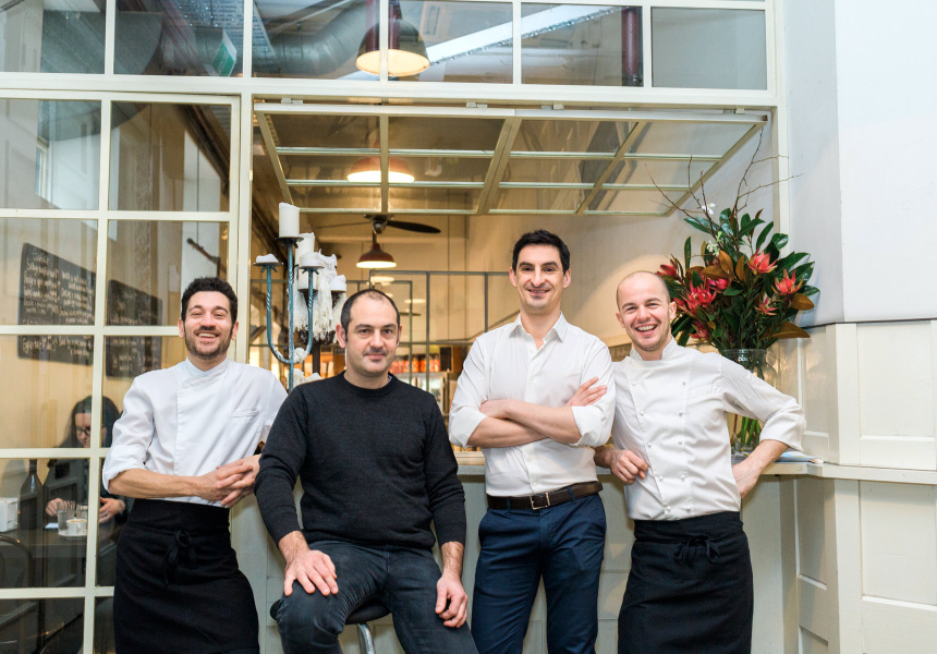 Luca Flammia, Chris Kerr, Matteo Neviani and Francesco Rota
