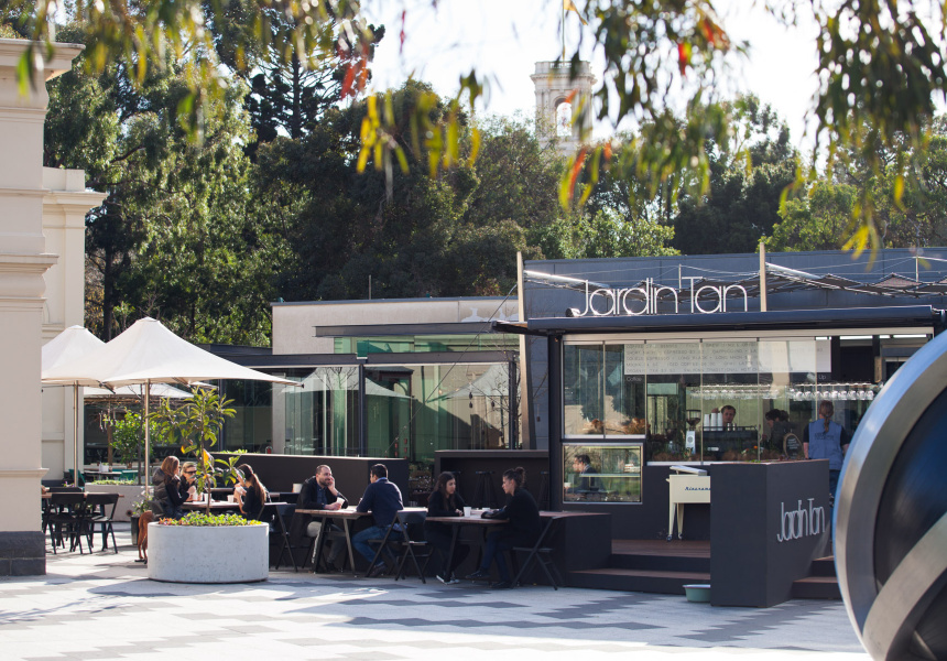 Shannon bennett 39 s jardin tan cafe in royal botanic gardens for Au jardin botanic gardens