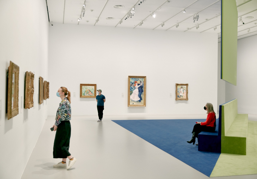 Installation view of French Impressionism from the Museum of Fine Arts, Boston from June – 3 October 2021 at NGV International, Melbourne.