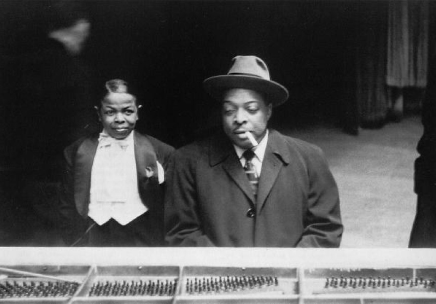 Pee Wee Marquette and Count Basie at Birdland