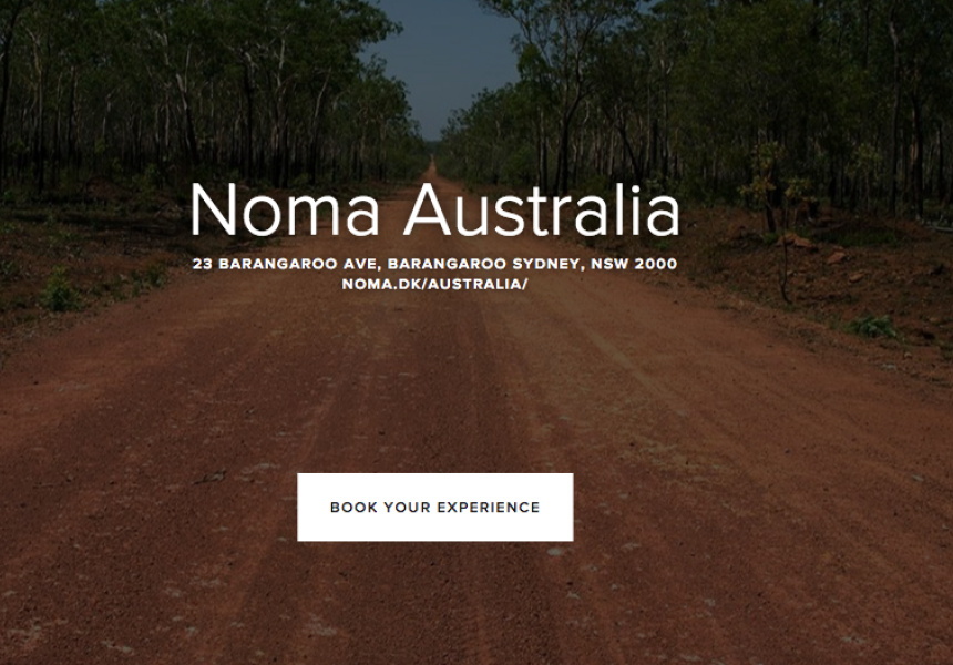 Booking page for Noma Australia