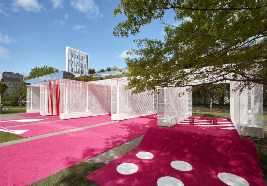a look inside melbourne s very very pink car wash broadsheet. Black Bedroom Furniture Sets. Home Design Ideas