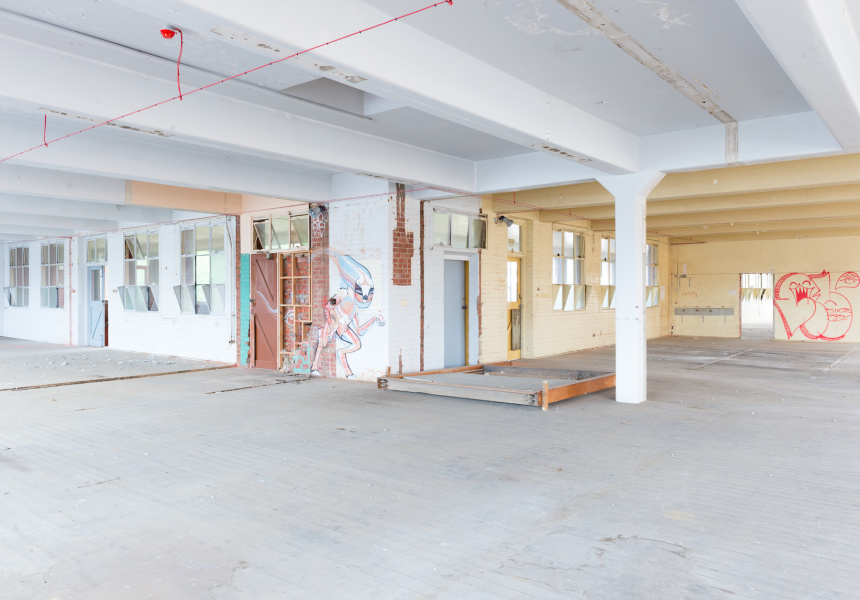 Inside the current Johnston Street site where Contemporary Arts Precinct (CAP) will be developed.