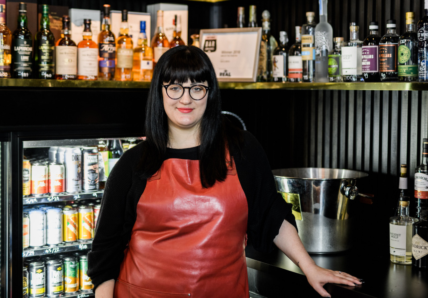 Tiny's Liquor Emporium's new Lord of Liquor, Jess Arnott.