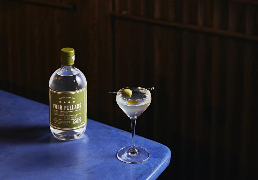 Olive-Oil Martini