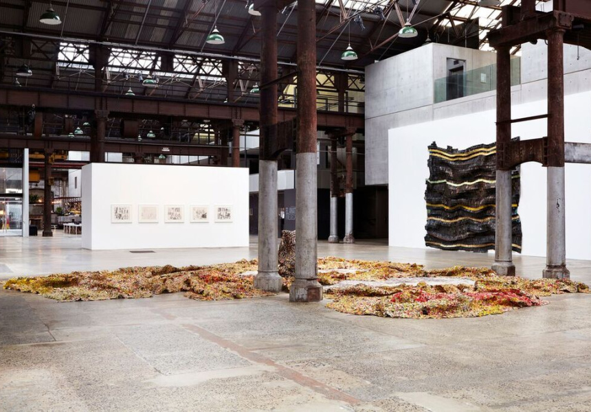 El Anatsui's Five Decades Exhibit
