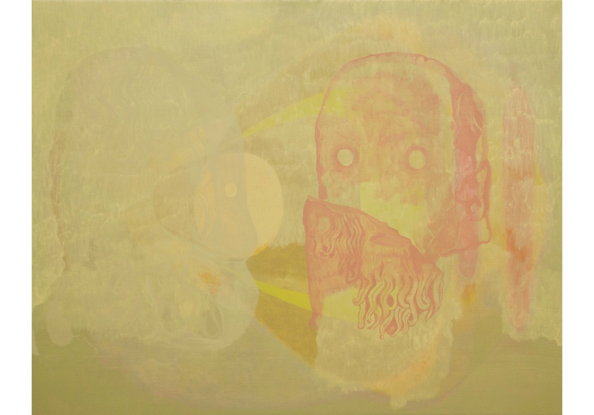 Michelle Ussher, Two Eyeballs on the Run–Looking for a New Head to House, Part One, 2012 oil on linen, 85 x 115 cm Courtesy of the artist and Station, Melbourne & Sydney