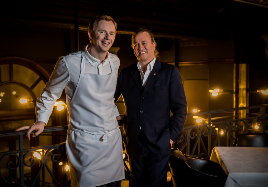 Neil Perry with head chef Phil Wood.