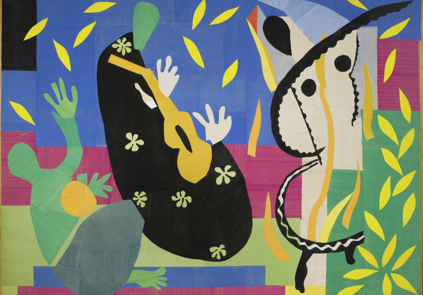 Henri Matisse, The sorrow of the king (La tristesse du roi), 1952, Centre Pompidou, Paris, Musée national d'art modern, purchased by the state, 1954 AM 3279 P. © Succession H Matisse / Copyright Agency 2021.