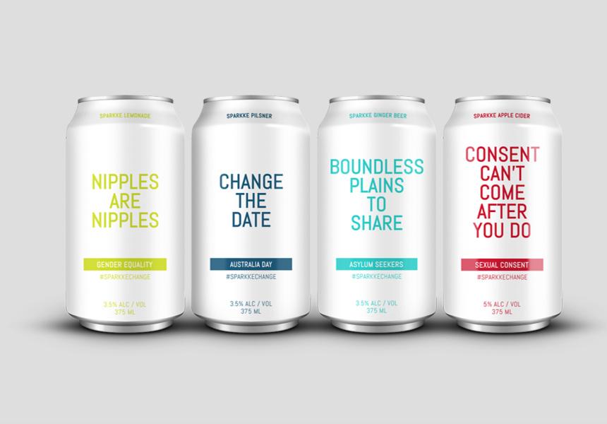 Sparkke Change Beverage Co. labels. Source.