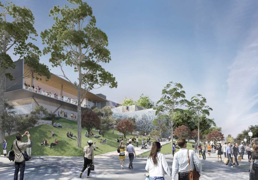 Proposed Apple store in Federation Square