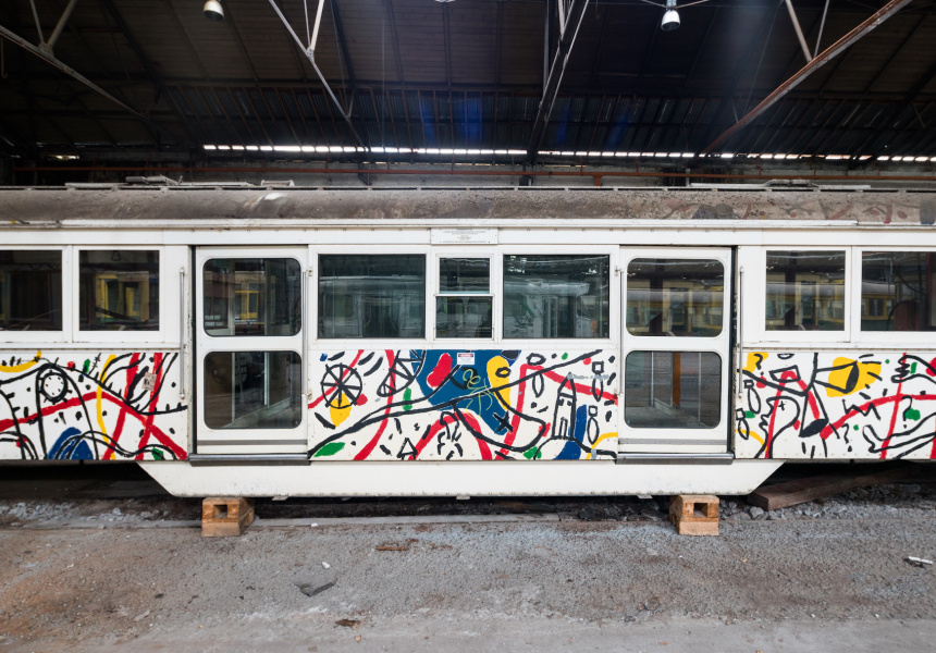David Larwill's original 1986 W-Class tram commission for the United Nations International Year of Peace