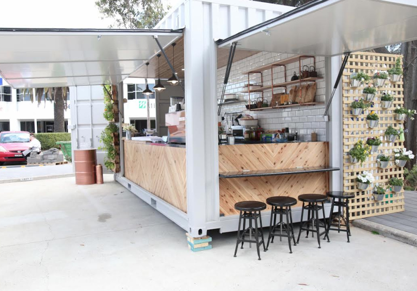 A Shipping Container Cafe Broadsheet