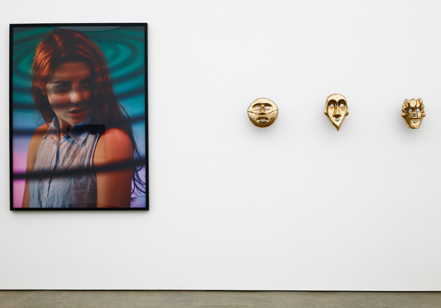 Darren Sylvester, installation view, Misshaped Head at Neon Parc