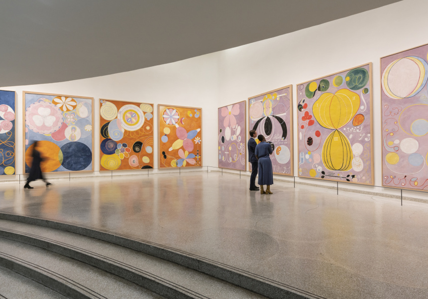 Installation view: 'Hilma af Klint: Paintings for the Future' October 12, 2018-April 23, 2019, Solomon R. Guggenheim Museum, New York.