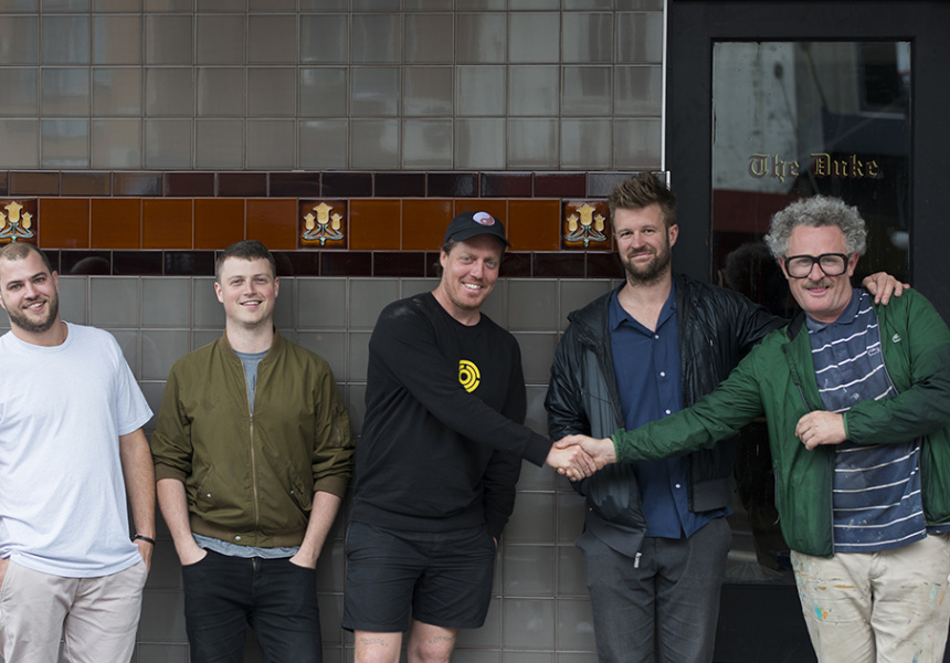 (L to R) Chris Deadman, Toby Wilson, Joel Amos, James Wirth and Michael Delany