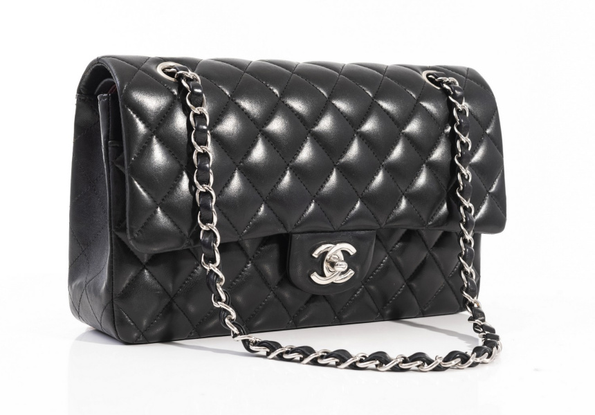 A medium classic flap bag by Chanel