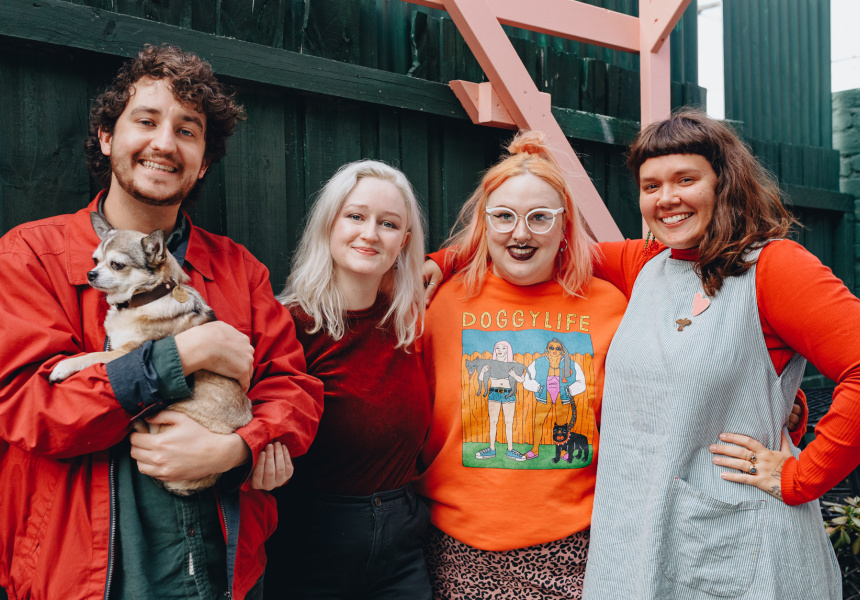 Aaron Billings, Aoife Billings, Gemma Flack and Frances Cannon
