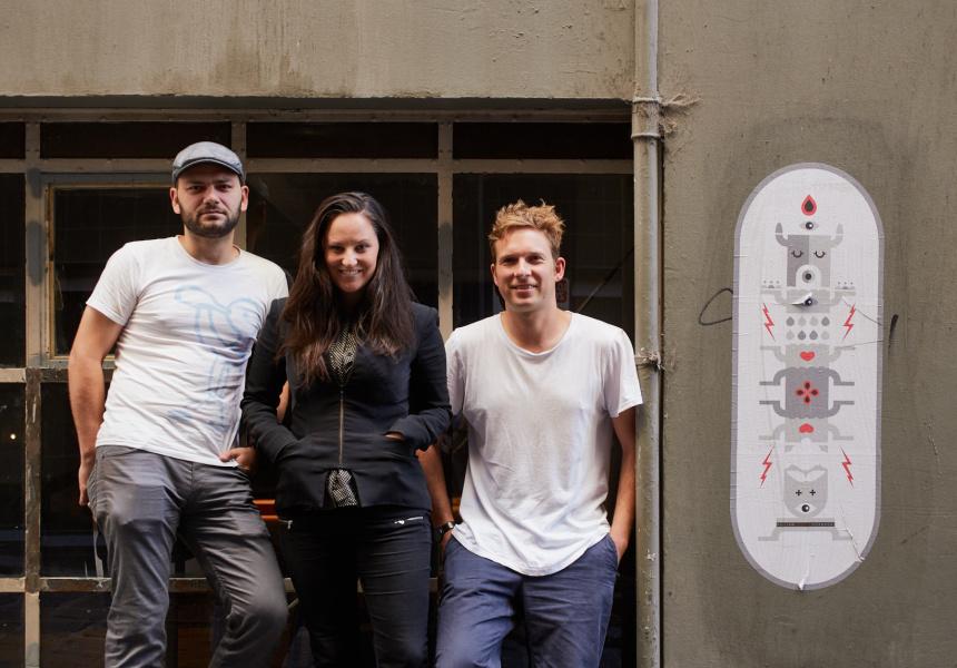 Left to right: Florent Gerardin, Kate Bartholomew and Tom Hunter.
