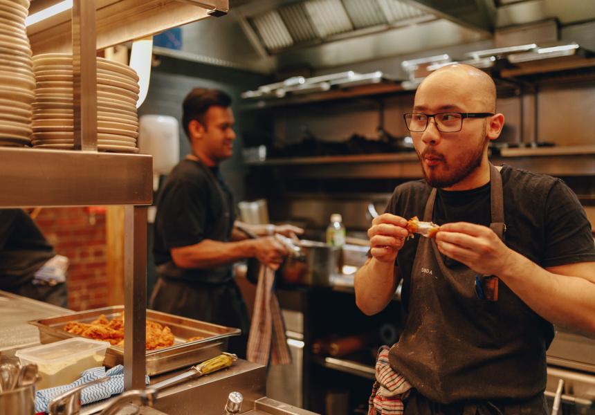 Head chef Khahn Nguyen (right)
