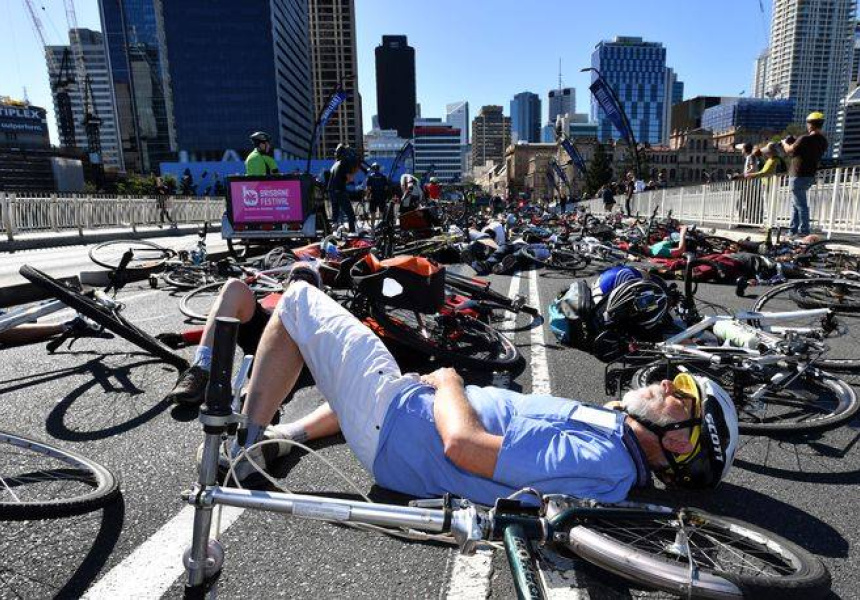 Image of last year's protest via Cyclist Die-In Facebook page.