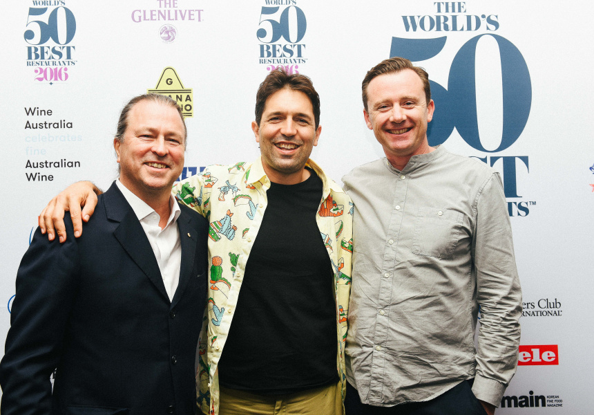 Neil Perry, Ben Shewry and Dan Hunter. Image courtesy of World's 50 Best Restaurants.