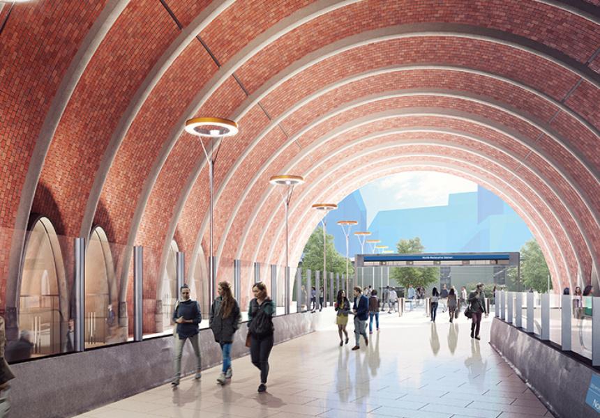 North Melbourne Station concept image