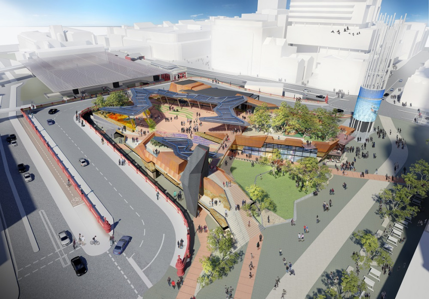 Artist's impression of Yagan Square.