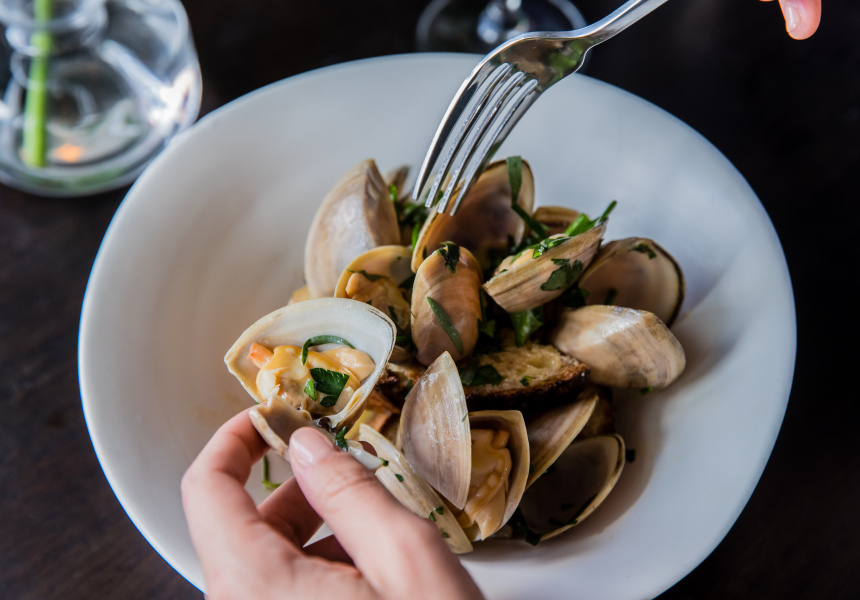Clams Normande. Hubert