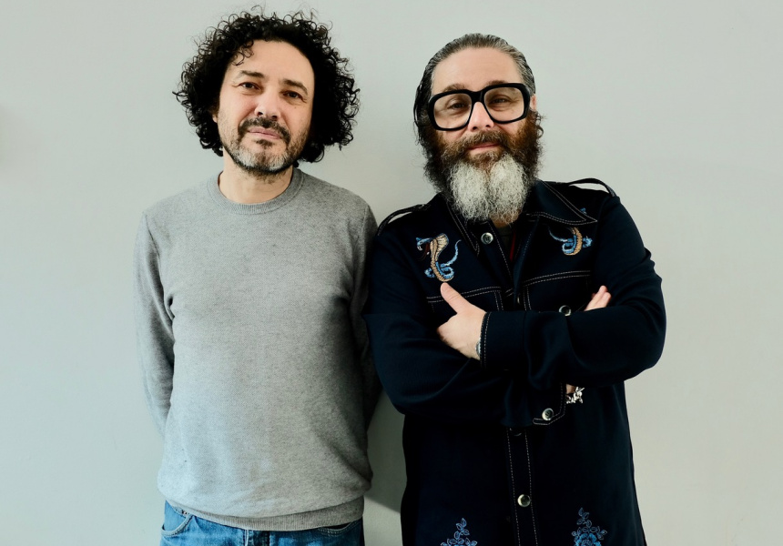 Playwrights Andy Nyman (l) and Jeremy Dyson