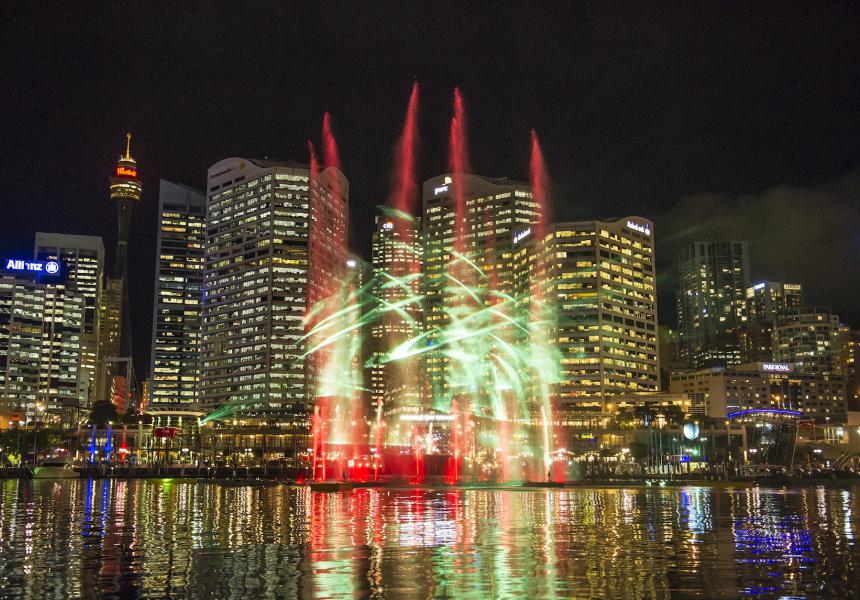 Vivid Sydney Vivid Laser Fountain Water Theatre at Darling Harbour