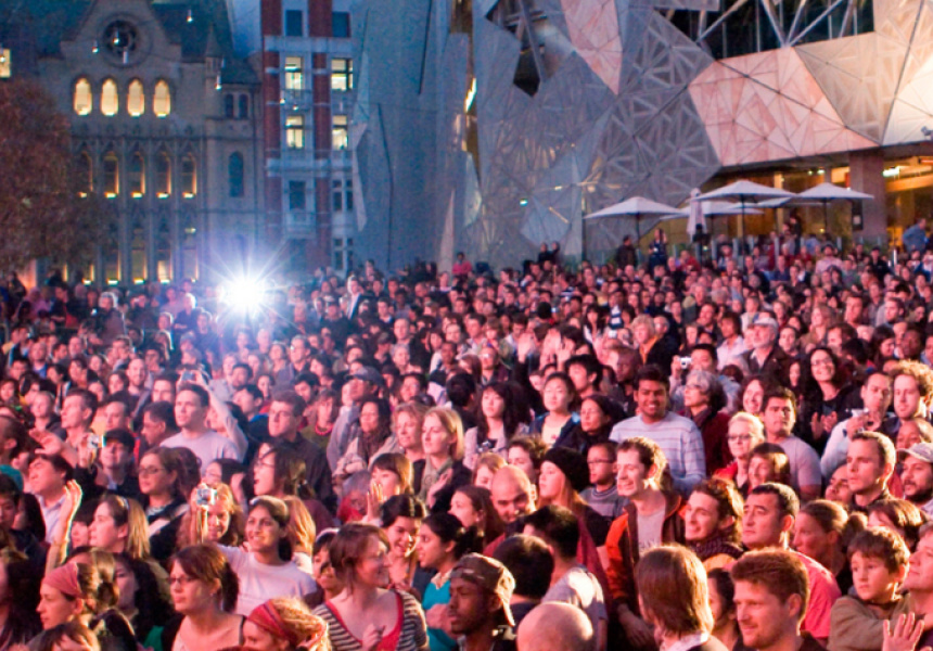 Federation Square, image courtesy of Melbourne Festival