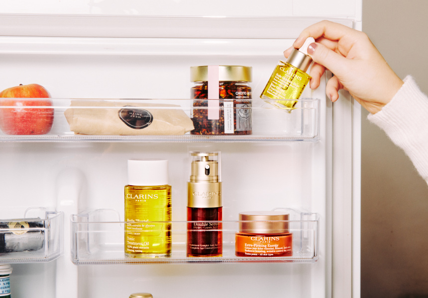 Store your beauty products in the fridge to make them last longer