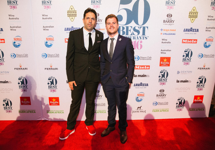 Image courtesy of World's 50 Best Restaurants.  Left to right: Attica's Ben Shewry and Matt Boyle