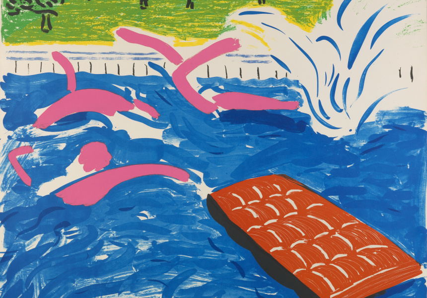 David Hockney  Afternoon Swimming 1980  lithograph, edition of 55  © David Hockney / Tyler Graphics Ltd. National Gallery of Australia, Canberra, Purchased 1980