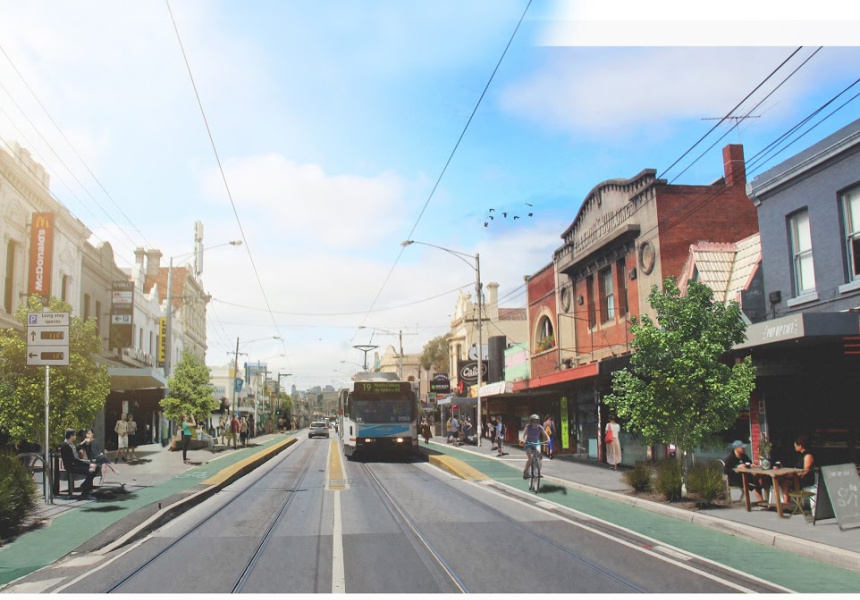 An artist impression of the proposed changes to Sydney Road