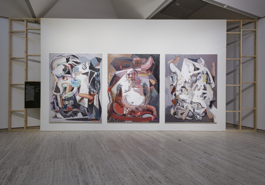Installation view of Quilty at the Art Gallery of New South Wales.