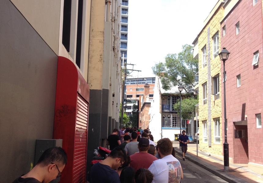 Lines at the last Sydney In-N-Out pop-up