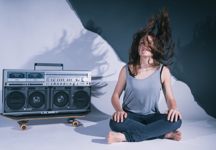 Nicola Gunn, Piece for Person and Ghetto Blaster. Photo: Sarah Walker